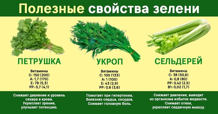 Зелень петрушка сельдерей укроп для потенции