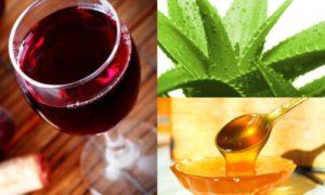 Алоэ, мёд, вино. Рецепт (способ) для быстрого повышения мужской потенции в домашних условиях