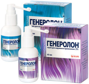 Генеролон спрей от выпадения волос