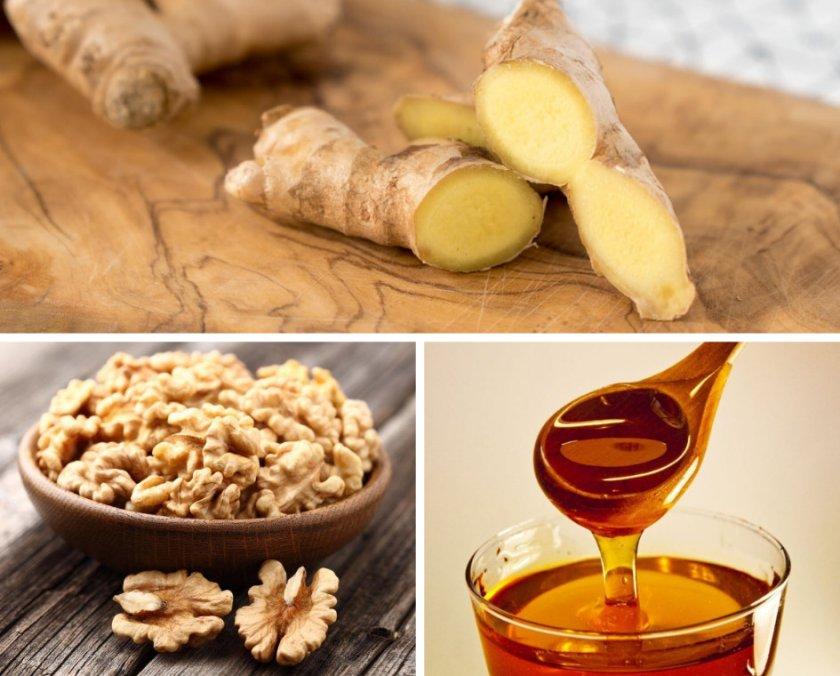 Грецкий орех с имбирем - рецепт для потенции мужчин