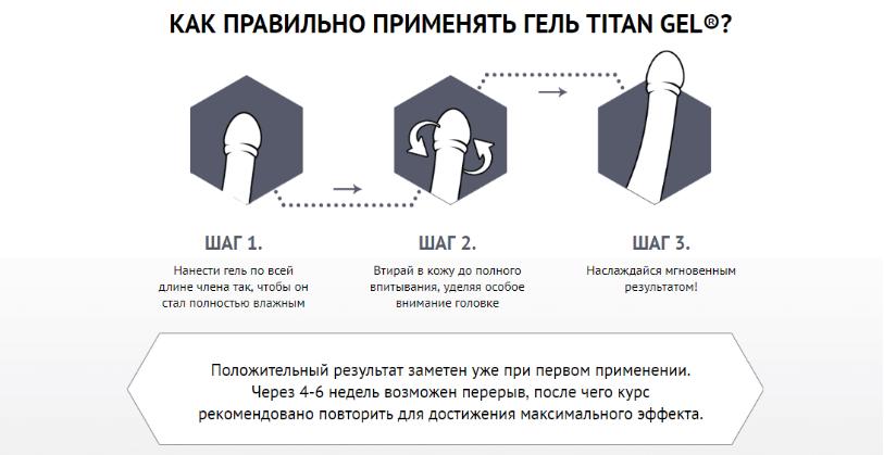 Титан гель для мужчин - инструкция по применению